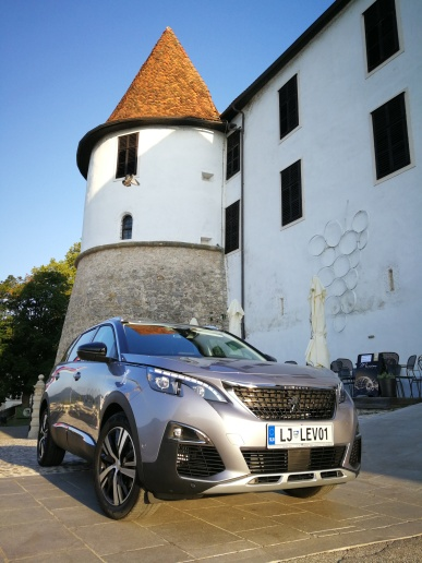 castle Sevnica and Peugeot 5008