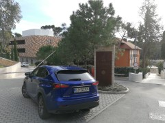 The back of Lexus NX