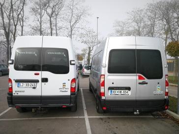 Stari in novi Renault Master v floti.