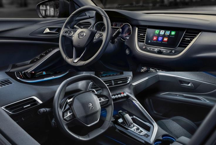 COCKPIT - Opel GRANDLAND X vs. Peugeot 3008