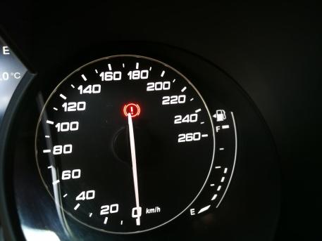 Grafika merilnika za gorivo - podobnost z Audijem?